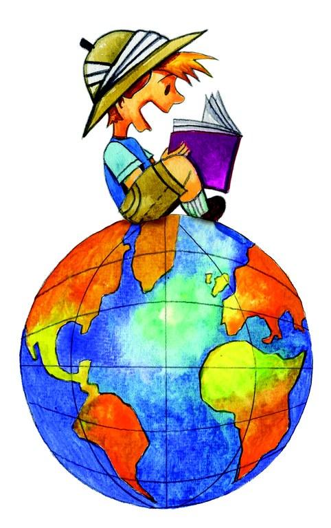 Boy on Globe